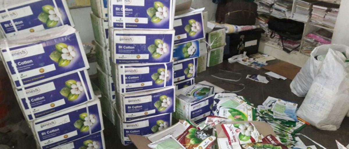 Outdated cotton seeds worth 6.7 L seized in Mahbubnagar