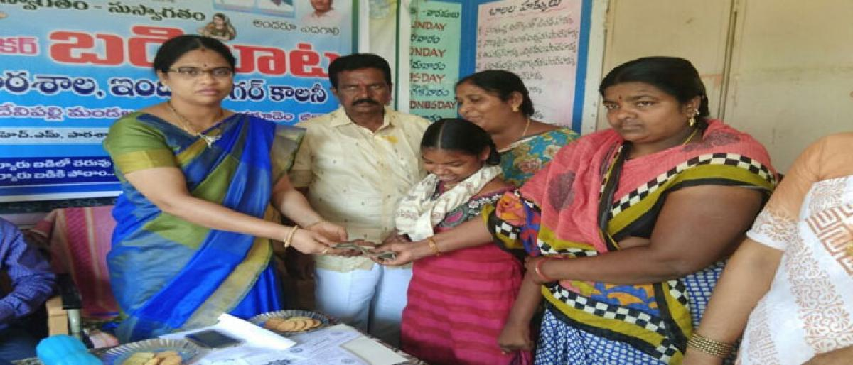 Motivate students not to drop-out In Khammam