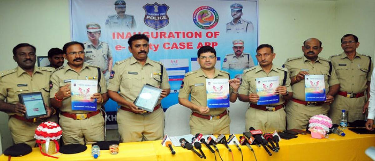 e-petty case app launched in Khammam city