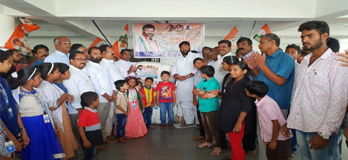 Bed sheets & clothes donated for Keralites