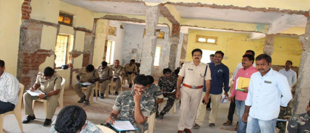 IT test held for constables in Kothagudem