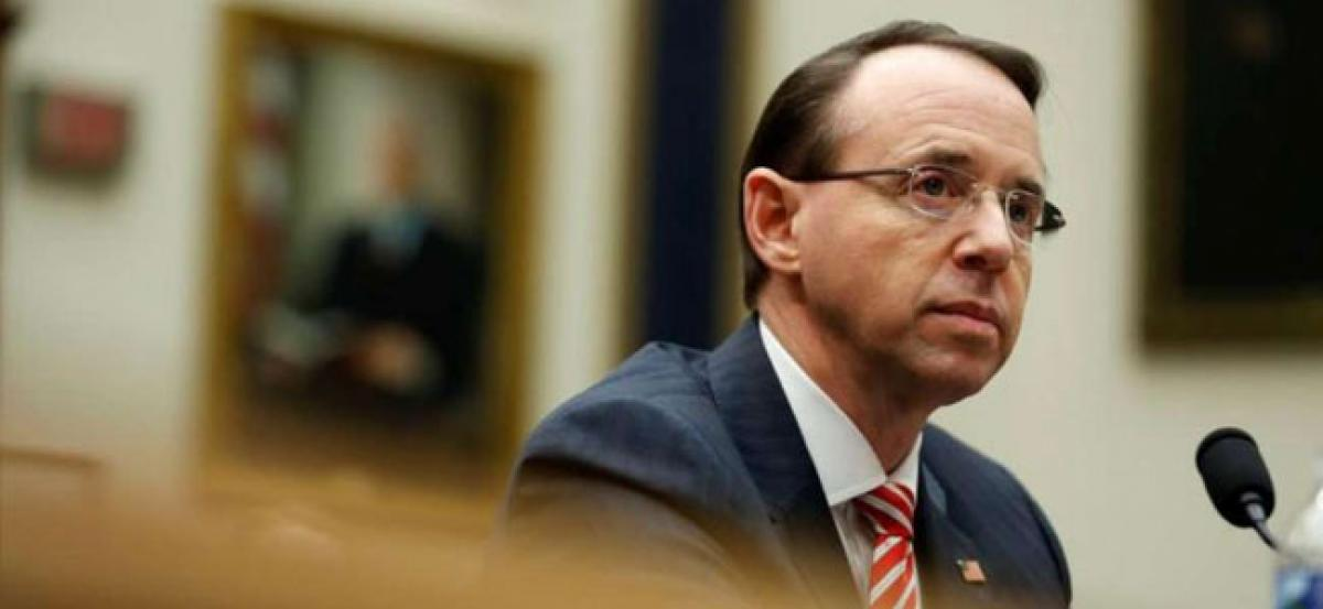 Republican lawmakers launch move to impeach Deputy US Attorney General Rod Rosenstein
