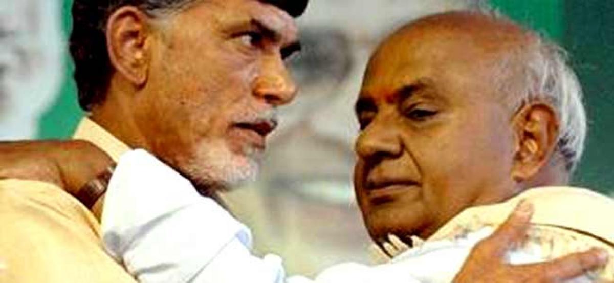 Naidu to meet Deve Gowda
