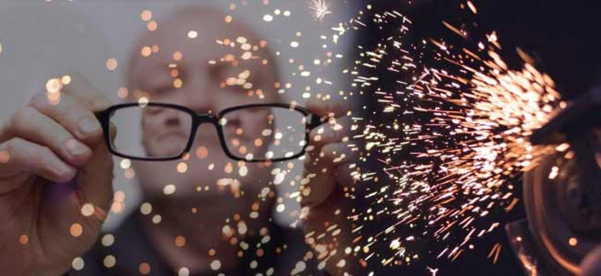 Diwali sparks lead to loss of vision