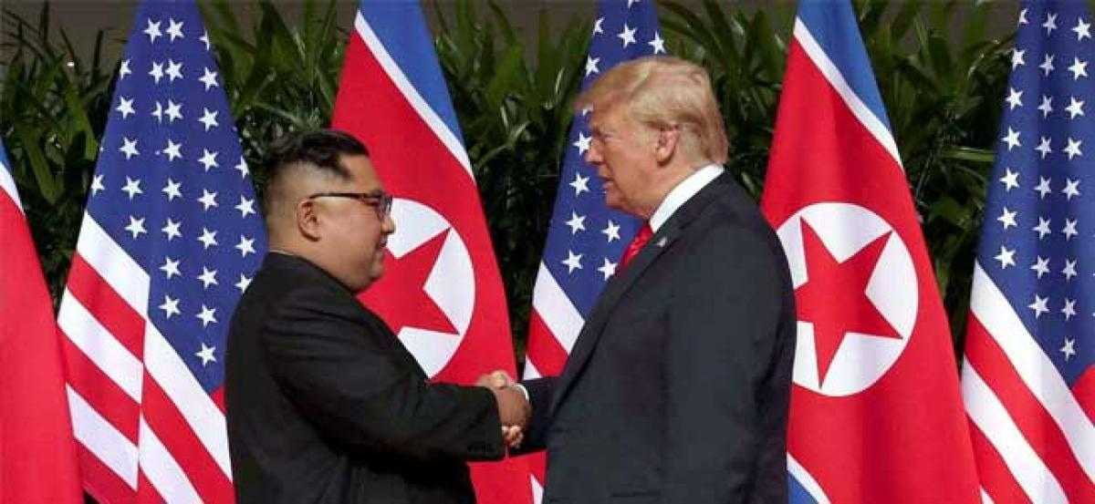 Trump hails warm relationship with Kim Jong Un, says Korea war games unlikely to start soon