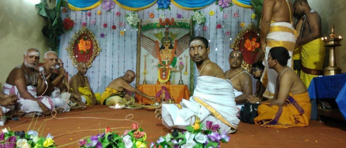 Dwajapata Lekhanam held in Bhadrachalam