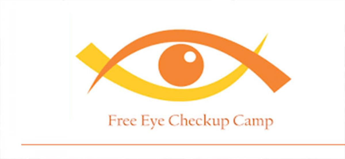 Free eye check-up camp today