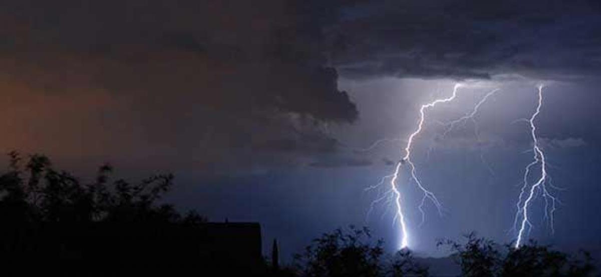 Lightning strike alert for Vishakapatnam, East Godavari