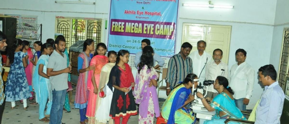 Free Eye check-up camp held in Khammam