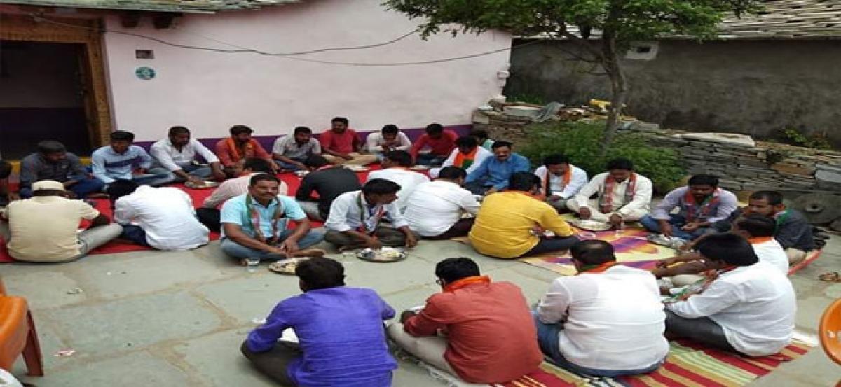 BJP holds community feast in Kondelli