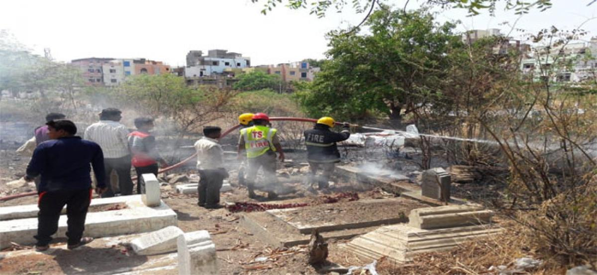 Locals furious over fire accident in graveyard