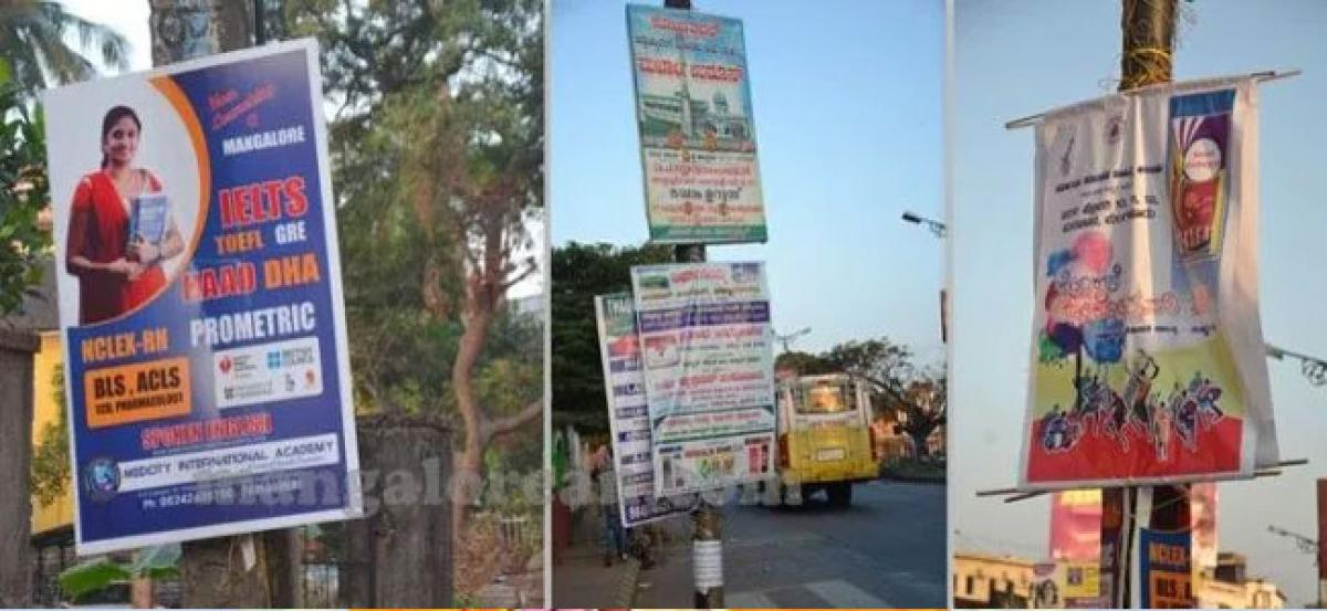 Flex banners take over every corner of city