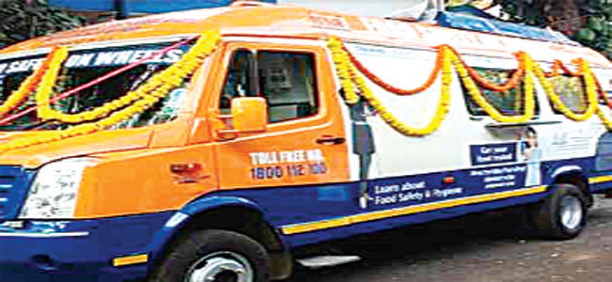Mobile food testing van in Siddipet