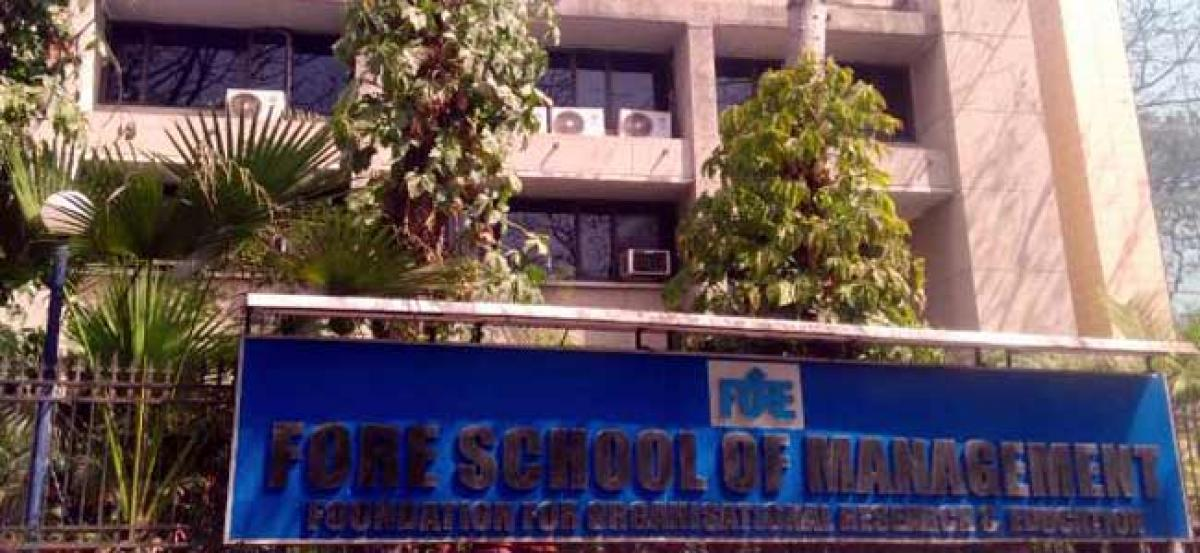 FORE School of Management opens applications for 2019-21