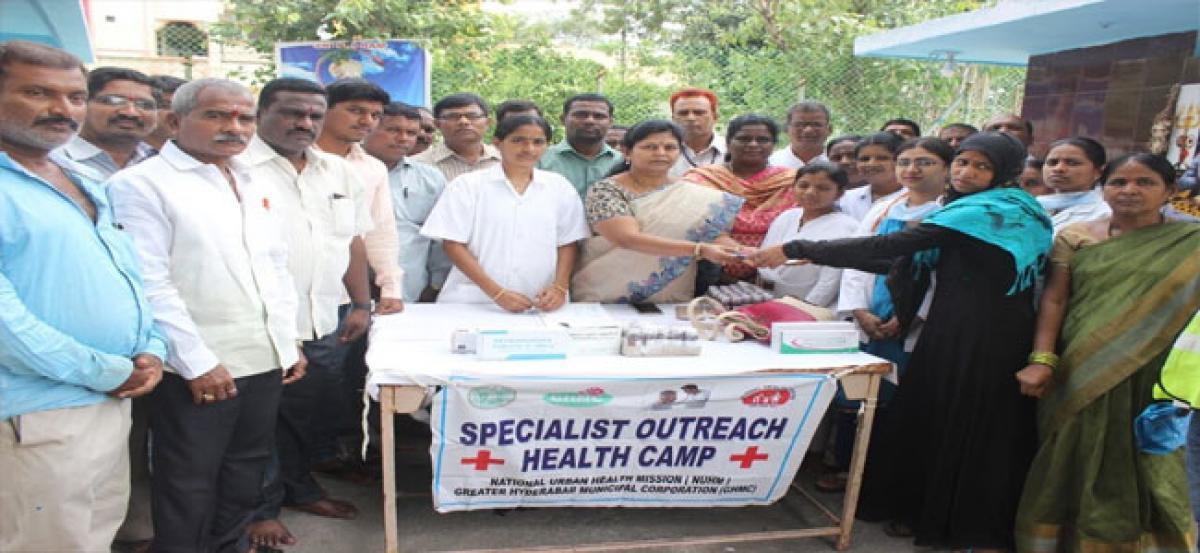 Free health camp held at Doodhkhana PHC