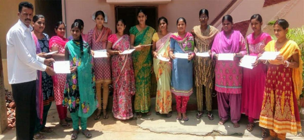 Women given 3-month free tailoring course certificate