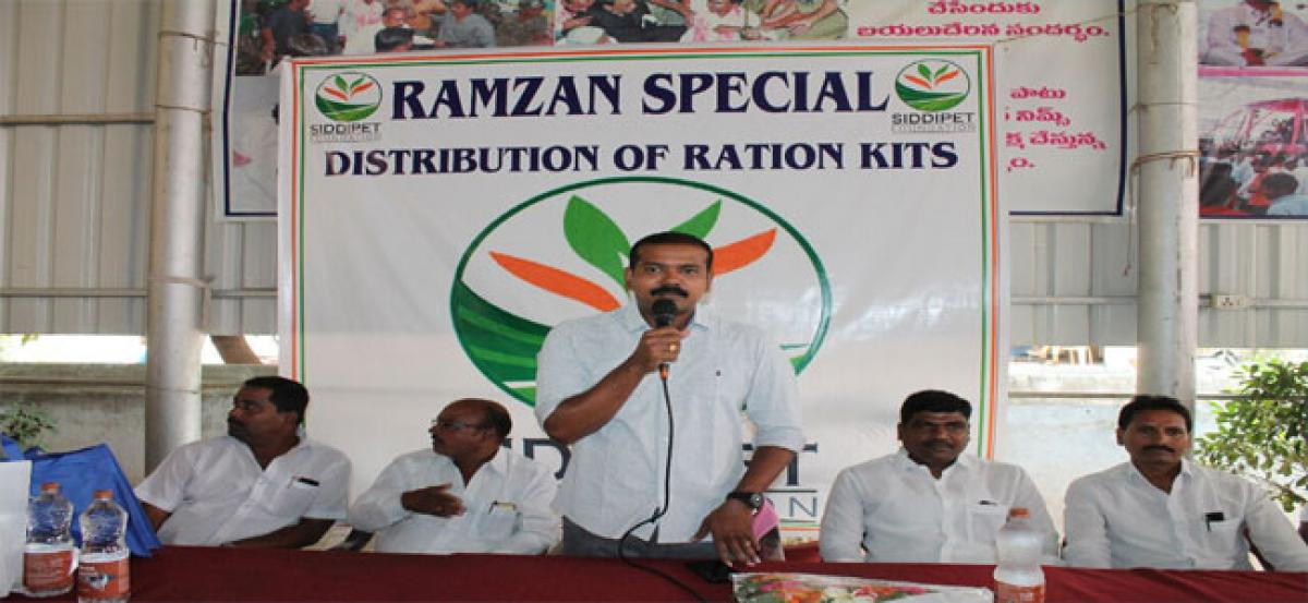 Free ration kits distributed to Muslim families