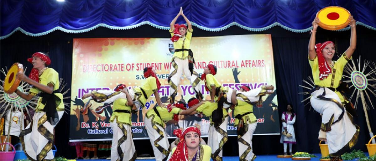 SVU intercollegiate cultural fest begins at SVU's Srinivas Auditorium in Tirupati