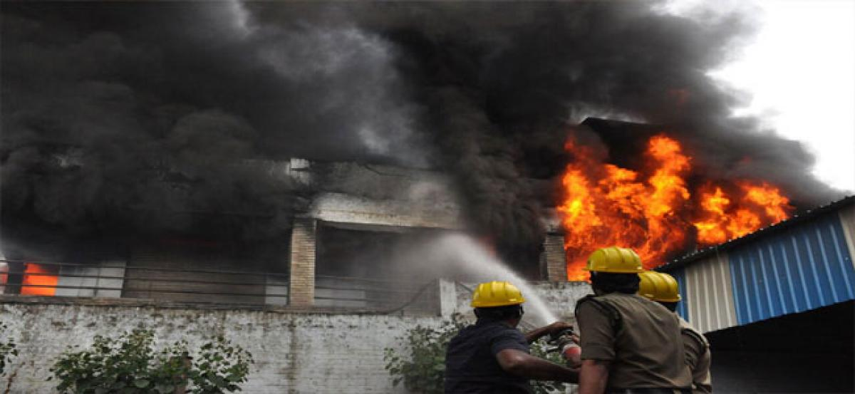 Hyderabad: Fire breaks out in paper manufacturing company