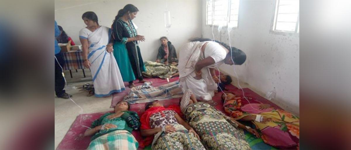 74 students fell sick after eating food at college in Nizamabad