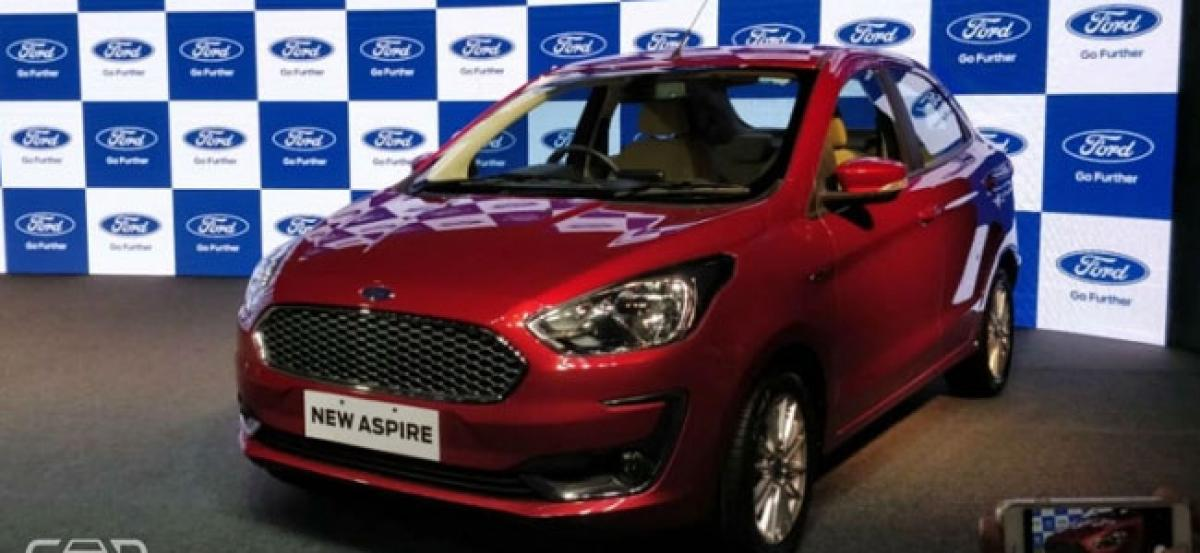 2018 Ford Aspire Facelift Launched At Rs 5.55 Lakh