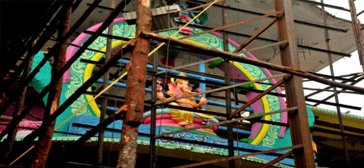Seven-headed Ganesha for Khairatabad