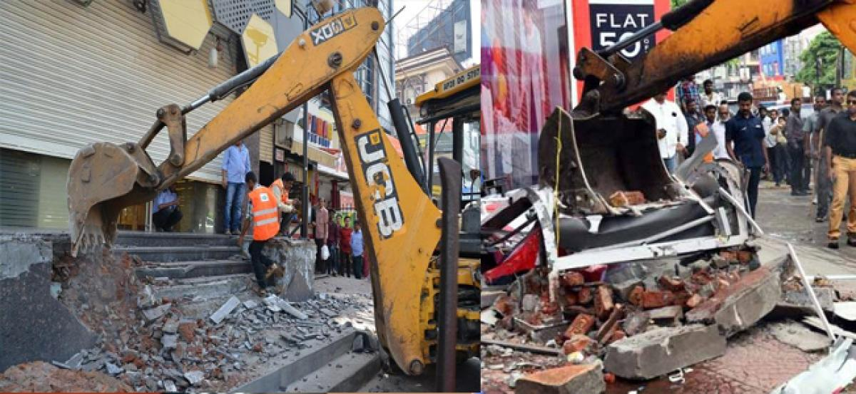 GHMCs special drive against encroachment on July 7