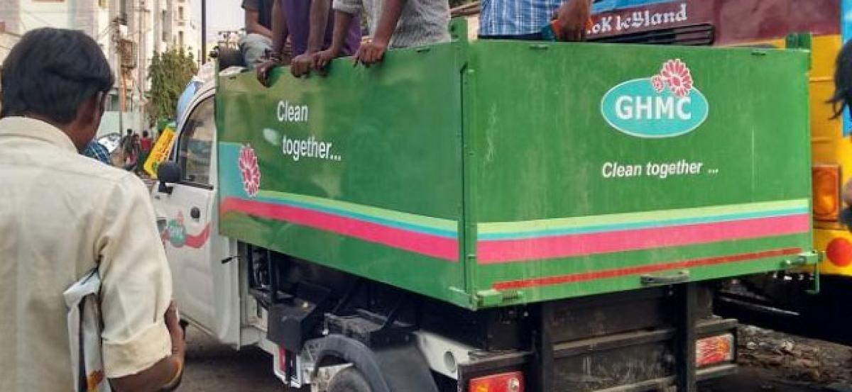 GHMC contract sweeper killed after getting hit by police patrolling vehicle in Hyderabad