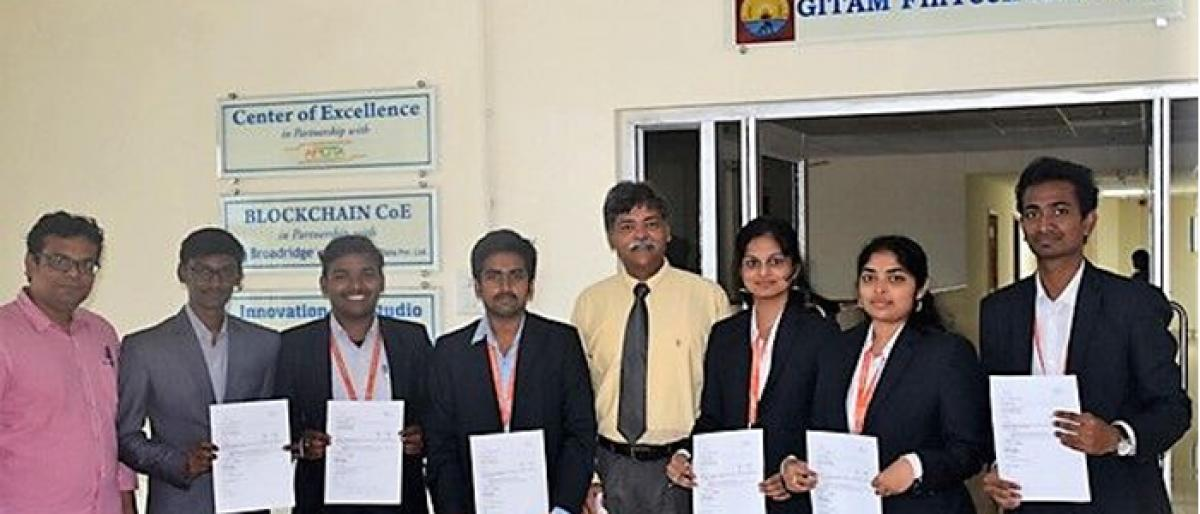 GITAM MBA (FinTech) students placed at US-based company