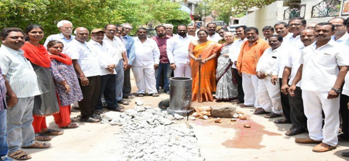 Underground drainage works inaugurated
