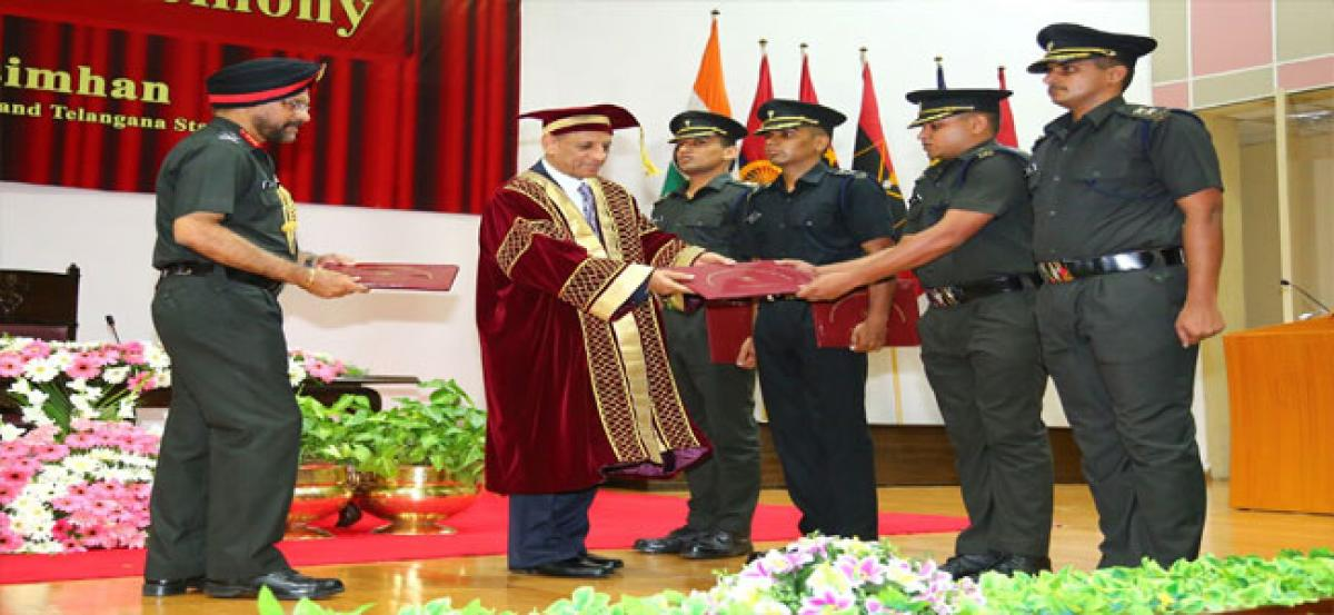 Governor ESL Narasimhan attends convocation ceremony at MCEME