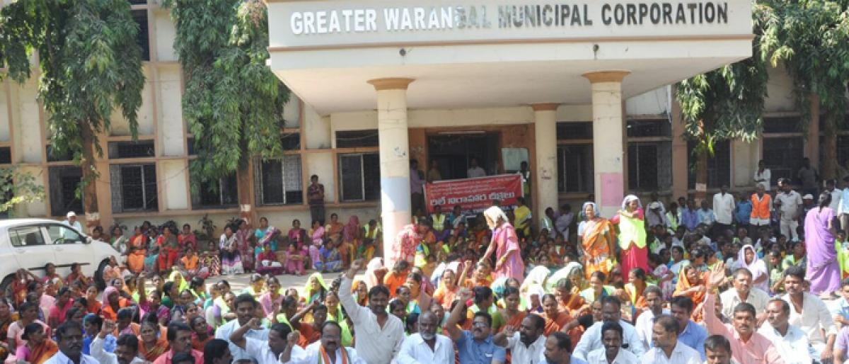 GWMC civic contract workers demand regularisation of services