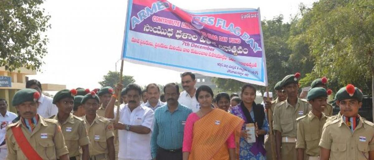 Army Flag Day observed in Gadwal