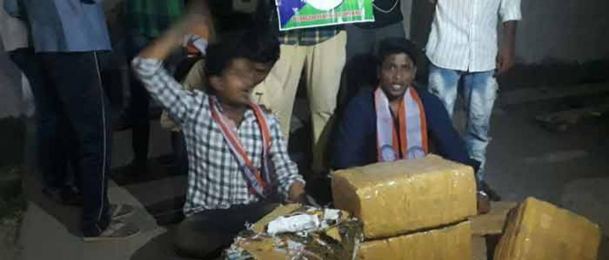Cops seize 100kg Ganja from pvt college hostel