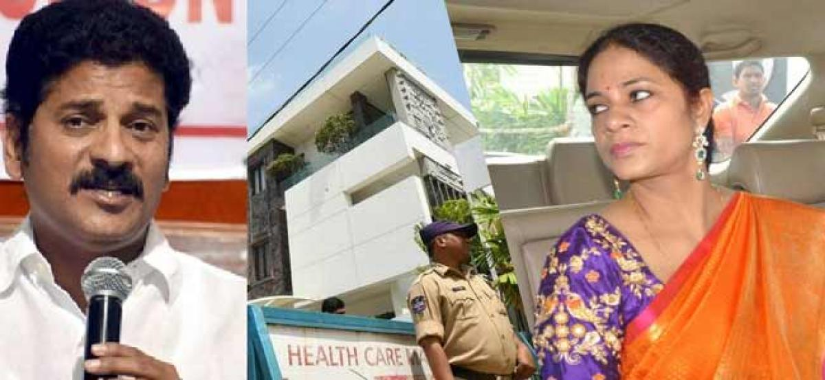 IT sleuths take Revanths wife Geetha to banks to disclose valuable assets in lockers