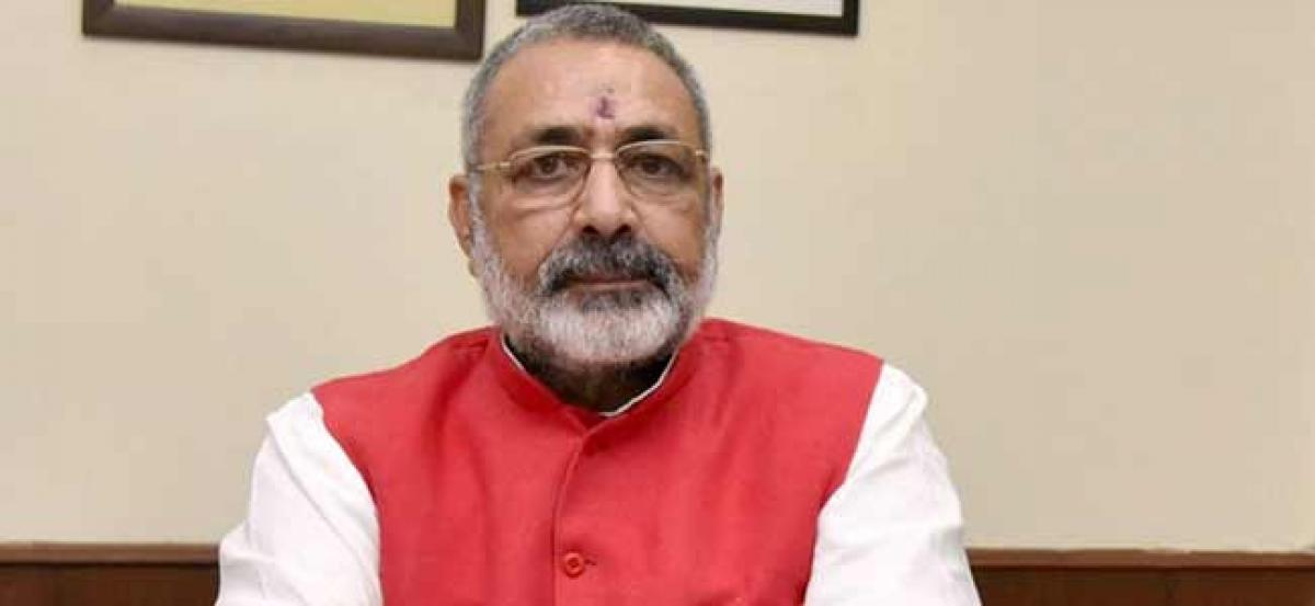 """No power in the world can stop the construction of a Ram temple."" Says Giriraj Singh"