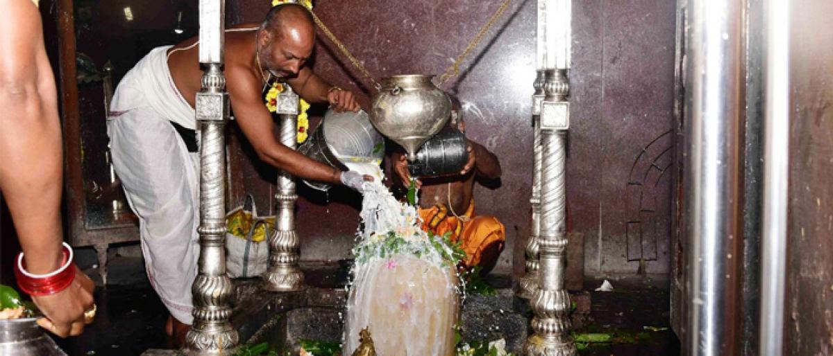 Pithapuram shines with 'Karthika lamps'