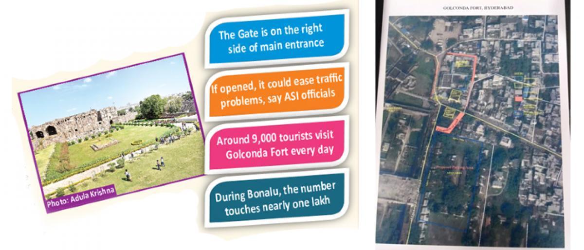 Open Murda Gate at Golconda Fort: ASI