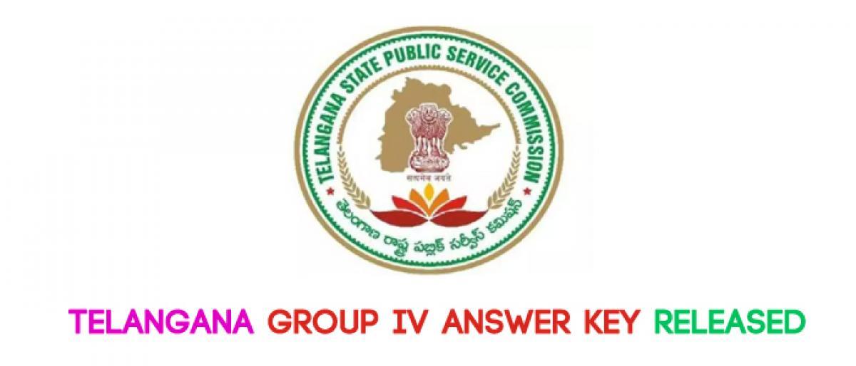Telangana Group IV answer key released
