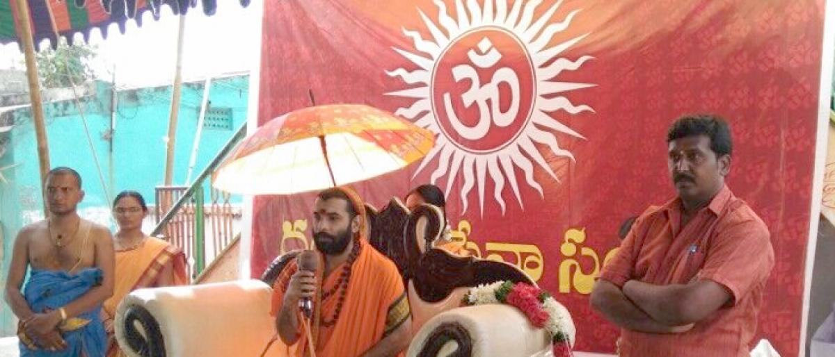 Mass Satyanarayana Swami Vratams held in Nuzvid