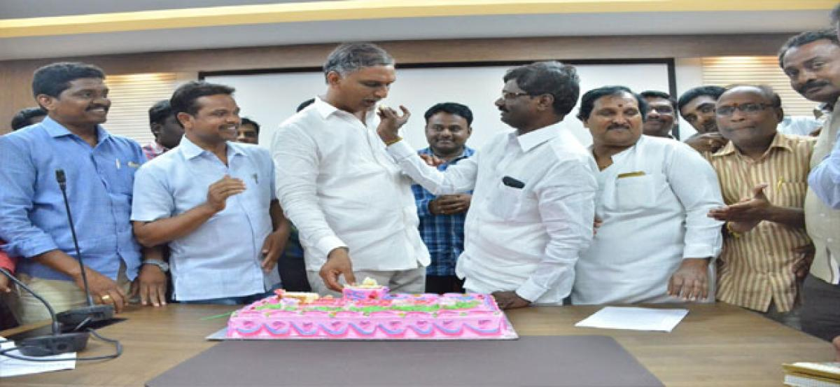 Harish birthday celebrated on a grand note