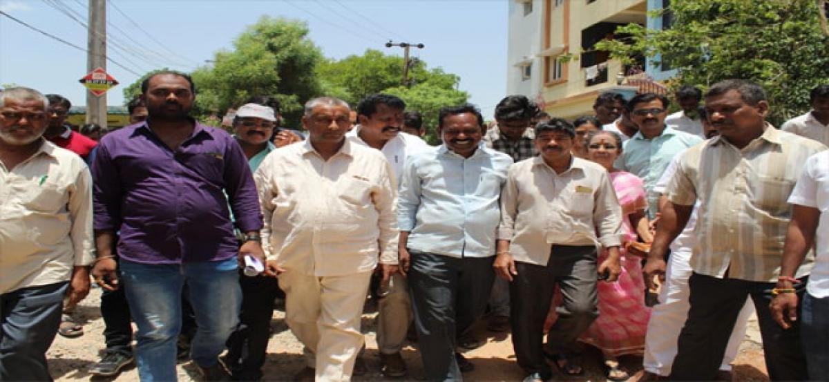 Corporator to take up civic works at Venkata Sai Colony