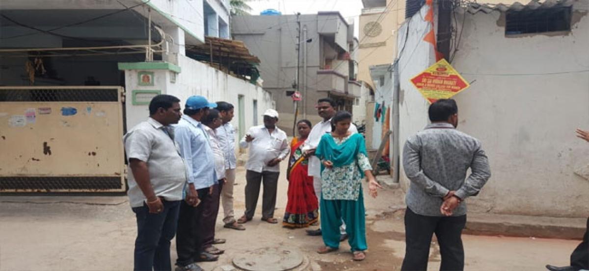 Hema meets Seethaphalmandi residents