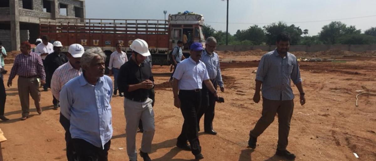 Janardhan Reddy inspects various HMDA projects
