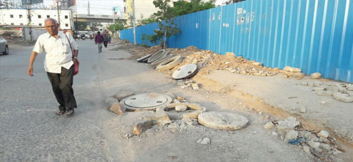 Open manholes pose a threat