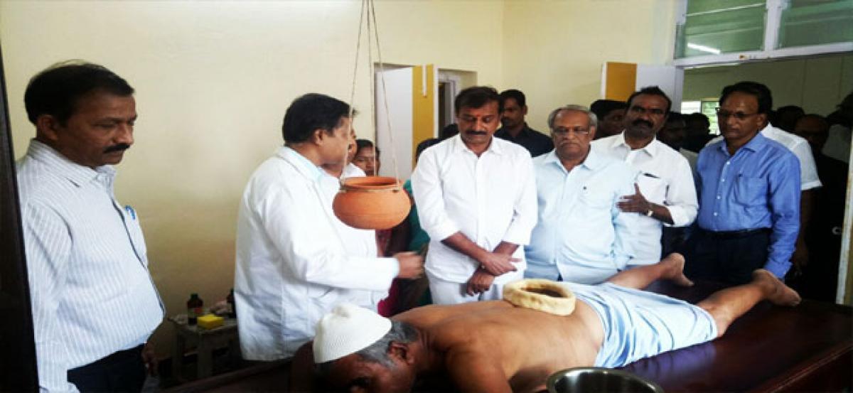 Renovated Government Ayurvedic Hospital inaugurated at Toopran