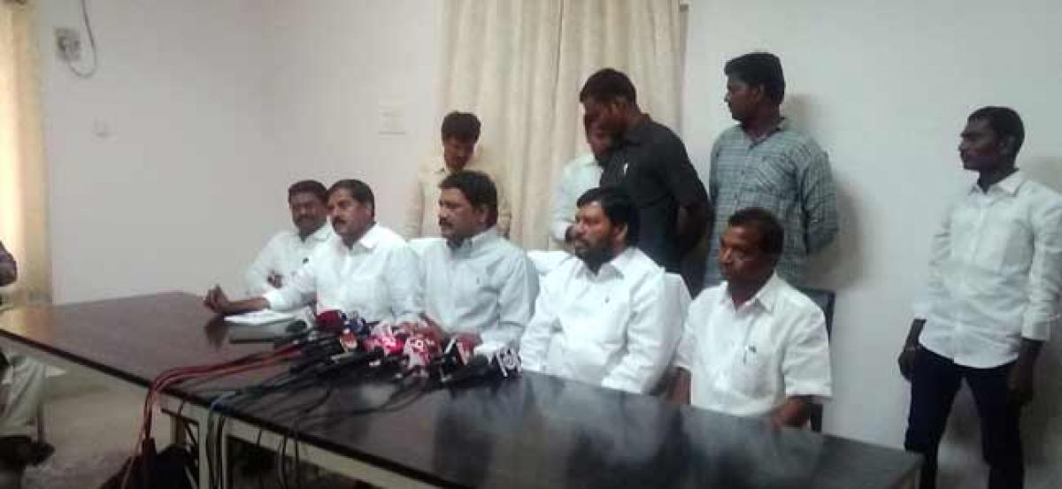 Not to franchise your vote in favor of YSR Congress or Janasena party in the ensuing elections: HRD Minister