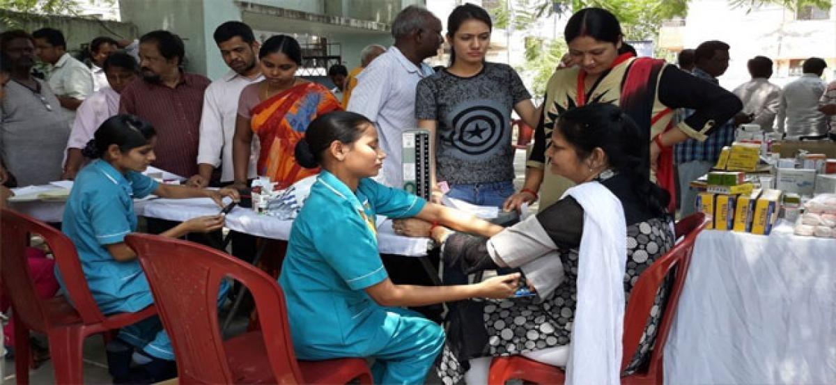 Free medical checkup camp held