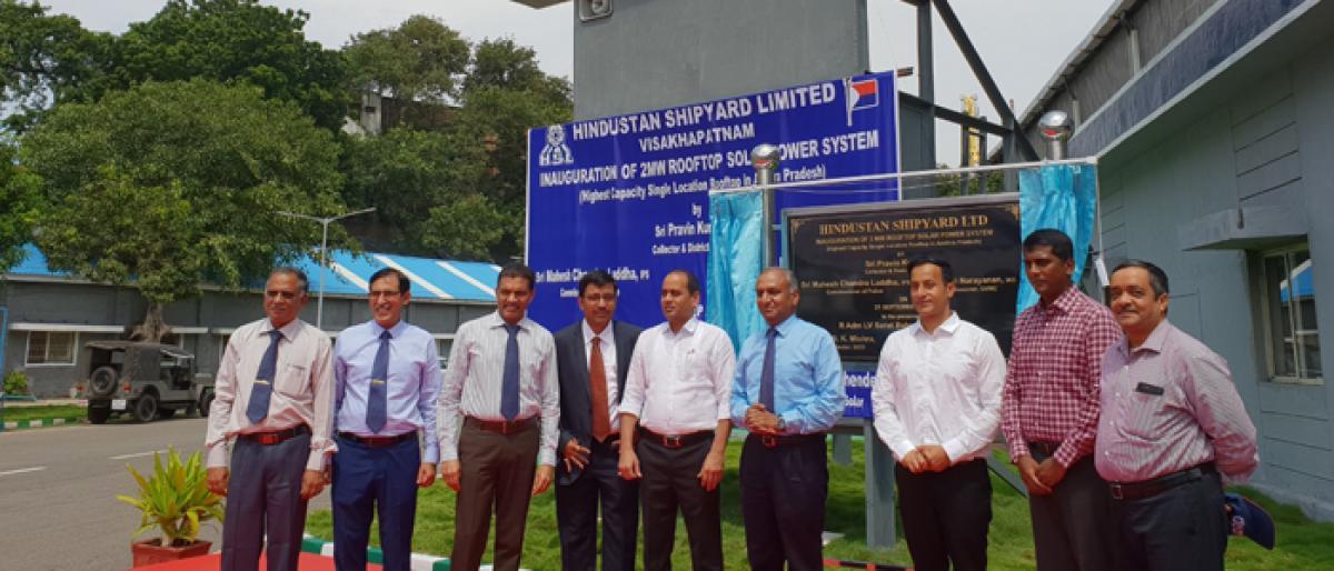 Hindustan Shipyard installs rooftop solar plant