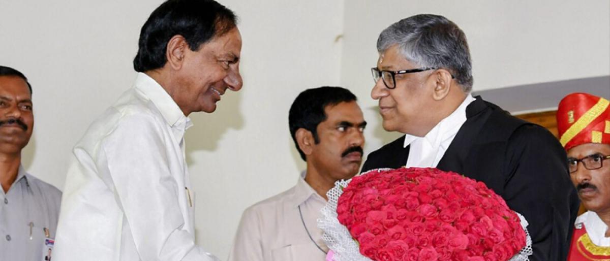 Radhakrishnan sworn in Chief Justice of Hyderabad High Court